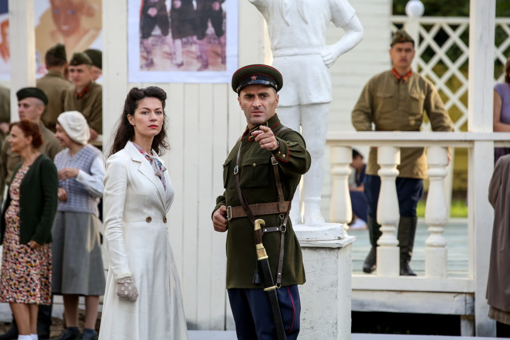 Гурам Баблишвили в роли лейтенанта Мусеридзе